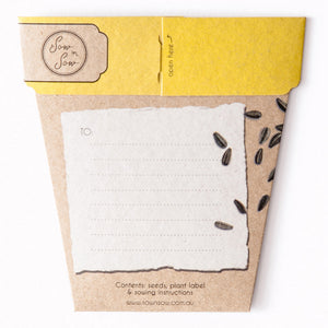 Sow'n Sow Seed Gift Card_Sunflower