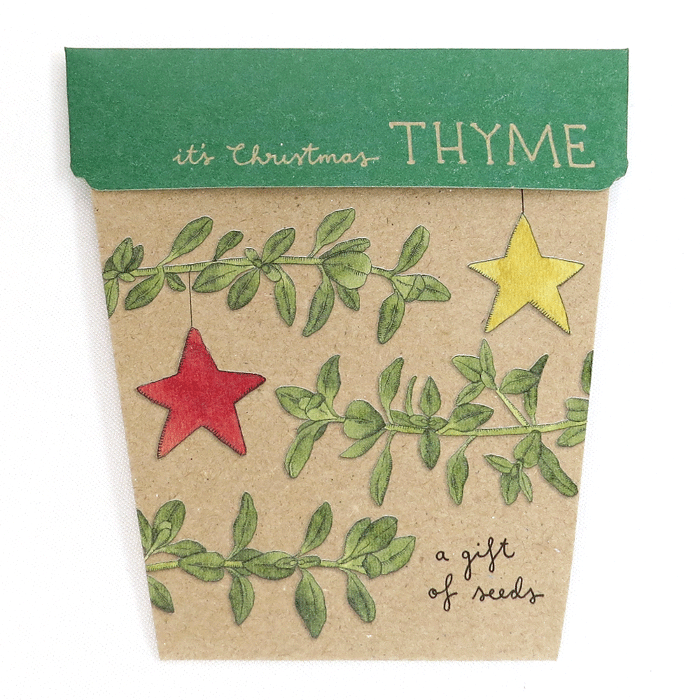 Christmas Thyme Card - Gift of Seeds | Seeds | Plant Gifts | The Potted Garden