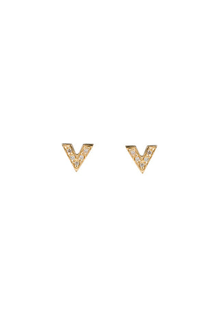 BROOKS STUD DIAMOND EARRING - 18K YELLOW GOLD