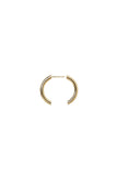BROKEN 25 EARRING - HIGH POLISHED GOLD