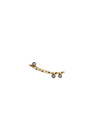 CIARA NOIR DIAMOND CUT EARRING - 14K YELLOW GOLD