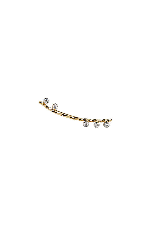 COLETTE BLANC DIAMOND CUT EARRING - 14K YELLOW GOLD