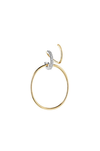 DARCY BLANC TWIRL EARRING - 18K YELLOW GOLD