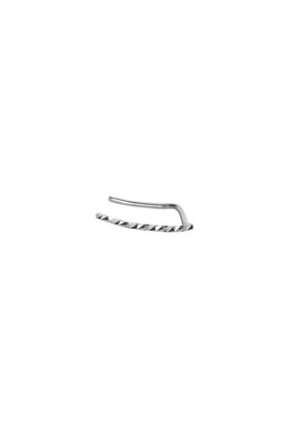 EMMI DIAMOND CUT EARRING - 14K WHITE GOLD