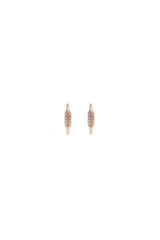 FAY WRAY STUD DIAMOND EARRING - 18K ROSE GOLD