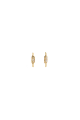 FAY WRAY STUD DIAMOND EARRING - 14K YELLOW GOLD