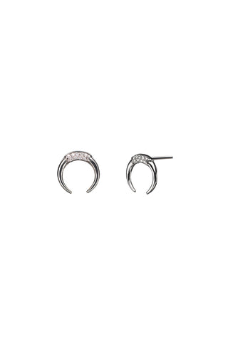 TUSK DIAMOND EARRING - 14K WHITE GOLD