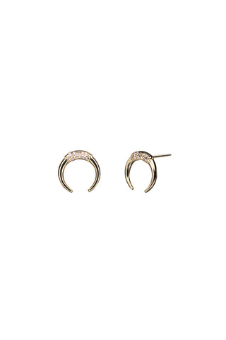 TUSK DIAMOND EARRING - 18K YELLOW GOLD