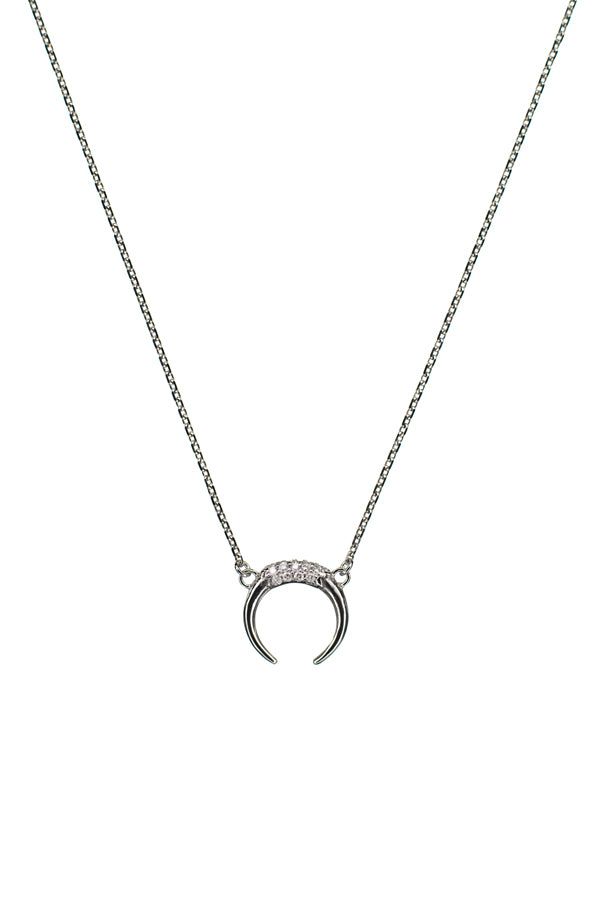 TUSK DIAMOND NECKLACE - 14K WHITE GOLD