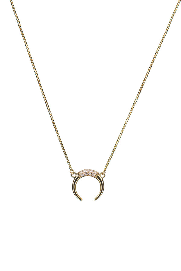 TUSK DIAMOND NECKLACE - 14K YELLOW GOLD