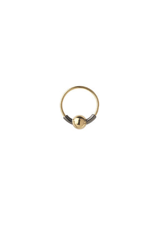 HOOP 5 EARRING - BLACK/GOLD