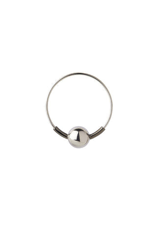 HOOP 8 EARRING - BLACK/SILVER