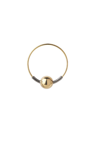 HOOP 8 EARRING - BLACK/GOLD