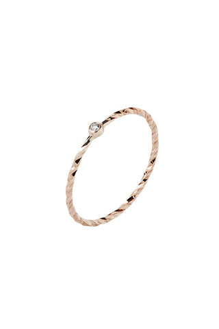 JABARI DIAMOND CUT RING - 14K ROSE GOLD
