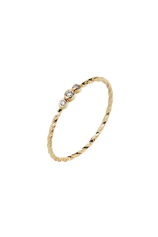 JESSA DIAMOND CUT RING - 14K YELLOW GOLD