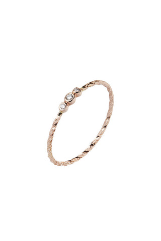 JESSA DIAMOND CUT RING - 14K ROSE GOLD