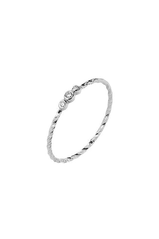 JESSA DIAMOND CUT RING - 14K WHITE GOLD