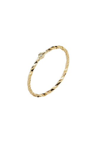 JOBYNA DIAMOND CUT RING - 14K YELLOW GOLD