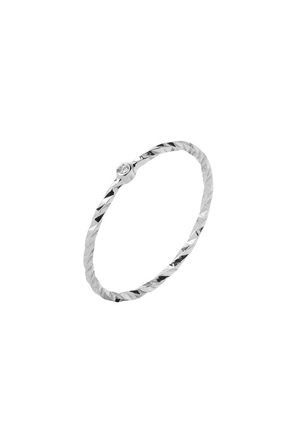 JOBYNA DIAMOND CUT RING - 14K WHITE GOLD