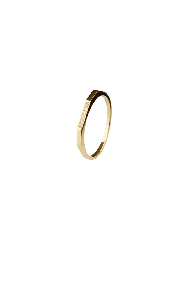 LE WITT DIAMOND RING - HIGH POLISHED GOLD