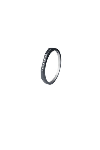 LE WITT DIAMOND RING - BLACK