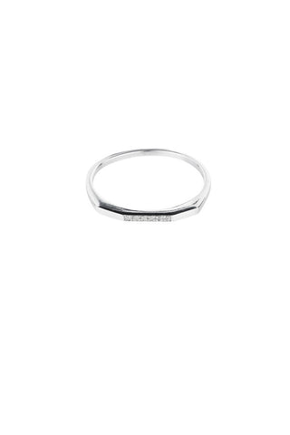 LE WITT DIAMOND RING - SILVER
