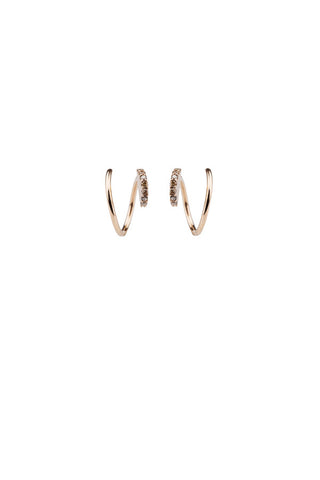 LILA DIAMOND TWIRL EARRING - 18K ROSE GOLD