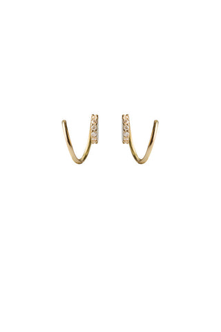 LILA DIAMOND TWIRL EARRING - 18K YELLOW GOLD