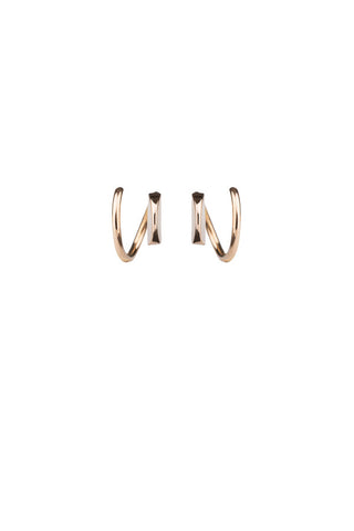 MAE TWIRL EARRING - 14K ROSE GOLD