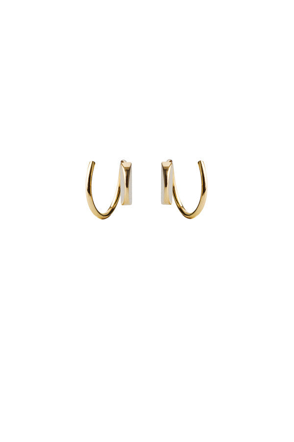 MAE TWIRL EARRING - 14K YELLOW GOLD