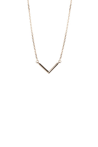 CHECK NECKLACE - ROSE GOLD