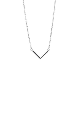 CHECK NECKLACE - SILVER
