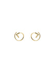 CHECK TWIRL EARRING - HIGH POLISHED GOLD