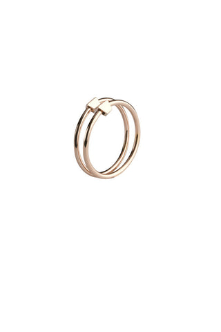 DOUBLE RING - ROSE GOLD