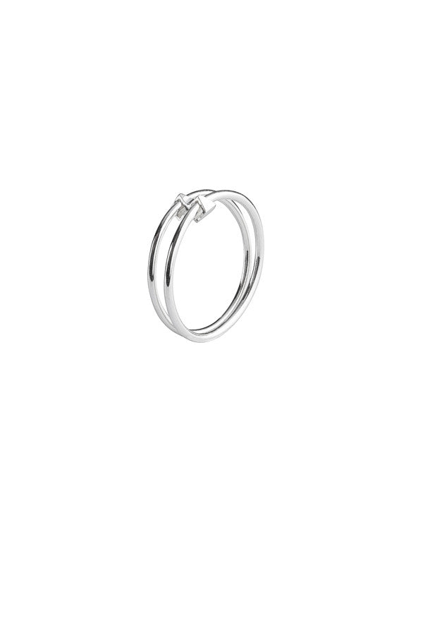 DOUBLE RING - SILVER