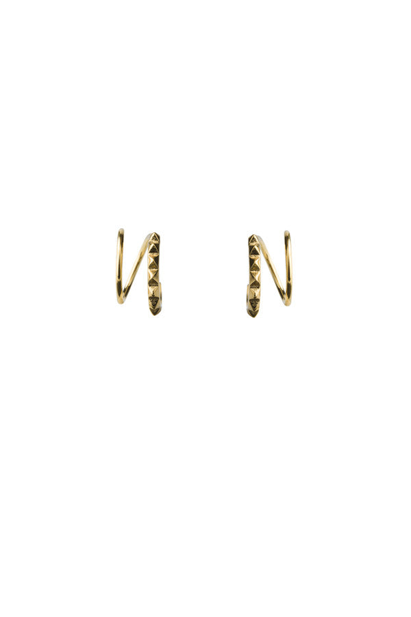 KLAXON TWIRL EARRING - HIGH POLISHED GOLD