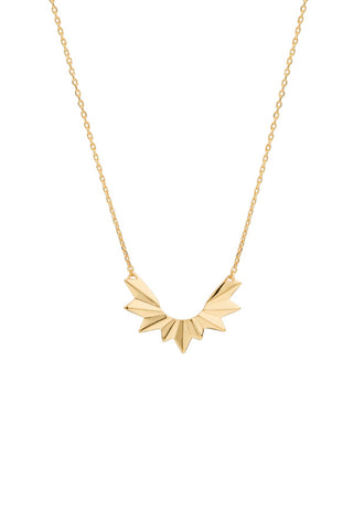 WING NECKLACE - HIGH POLISHED GOLD