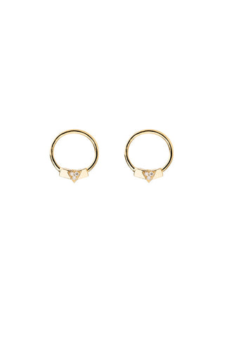 ALICE DIAMOND EARRING  - 14K YELLOW GOLD