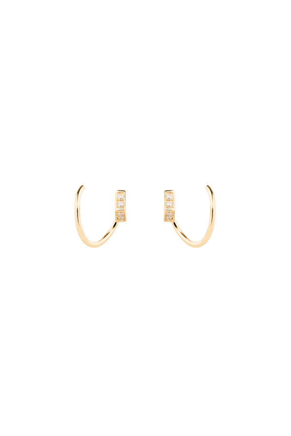 ARI DIAMOND TWIRL EARRING  - 14K YELLOW GOLD