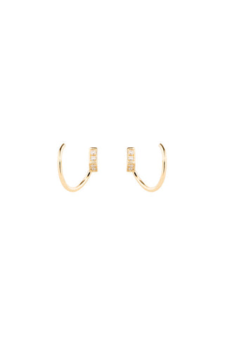 ARI DIAMOND TWIRL EARRING  - 18K YELLOW GOLD