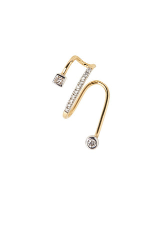 AVERY BLANC EAR CUFF - 14K YELLOW GOLD