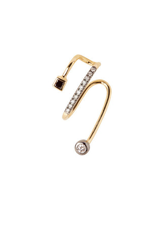 Avery Noir Ear Cuff - 18K yellow gold