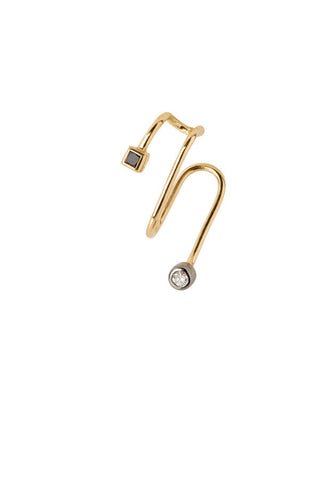 Bailey Noir Ear Cuff - 18K yellow gold
