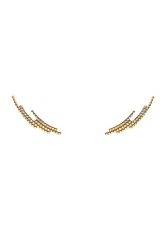 CRESCENT EARRING - GOLD