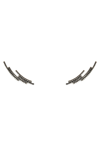 CRESCENT EARRING - BLACK