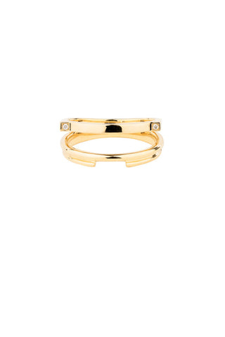 DUET DIAMOND RING - 18K YELLOW GOLD