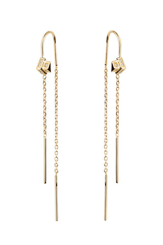 DUSK DIAMOND EARRING  - 18K YELLOW GOLD