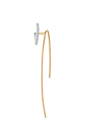 Elodie Blanc Twirl Earring - 18K yellow gold