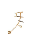 INES NOIR EAR CUFF - 14K YELLOW GOLD