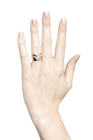 FOOLED HEART RING - HIGH POLISHED GOLD